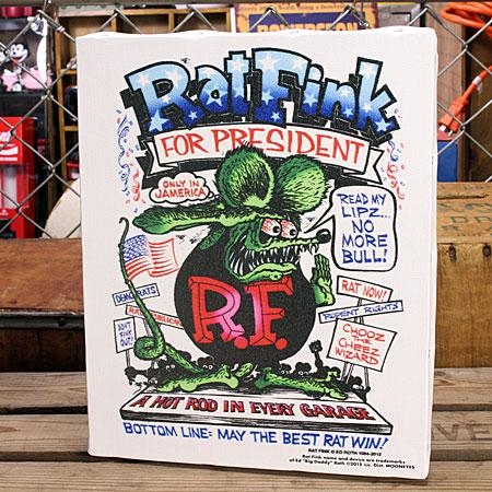 ��åȥե��� �ݥ����� �����Х��ѥͥ� Rat Fink PRESIDENT ������M
