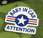 BABY IN CAR ステッカー US AIR FORCE サイズM