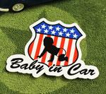 BABY IN CAR ステッカー ROAD SIGN サイズM