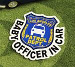 BABY IN CAR ステッカー POLICE OFFICER サイズM