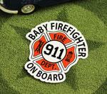 BABY IN CAR ステッカー FIREFIGHTER サイズS
