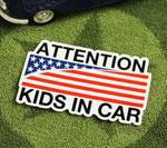 KIDS IN CAR ステッカー AMERICAN FLAG サイズS
