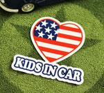 KIDS IN CAR ステッカー HEART サイズS