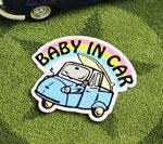 BABY IN CAR ステッカー オート三輪 サイズS