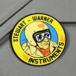 ステッカー スチュワート・ワーナー(STEWART WARNER INSTRUMENTS)