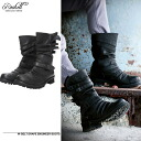 【Pre-Order】【Ship will be on Sept.17】Roshell W Belt Drape Engineer Boots