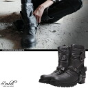 【Pre-Order】【Ship will be on Sept.17】 Roshell Studs Riders Ring Boots