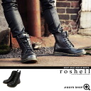 ◆ roshell (Rochelle) PU エイトホールレース boots ◆ brother series Men's boots men's brother system boots shoes shoes leather black brother of fashion brother! % off men's clothing & bamboo-synthetic leather PU leather knee high boots