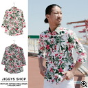 ◆It is a sleeve shirt long sleeves casual shirt men older brother system shirt long sleeves shirt older brother system fashion older brother men fashion spring flower handle of print flower for Men's shirt 7 for recycling cotton floral design 7 of sleeve