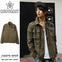 ◆Men jacket military jacket military outer たけぞー brand skater skateboard fashion Men's samurai ELO smart smart spring of REBTRAIT( レブトレイト) M65 light twill jacket ◆ street American casual street origin