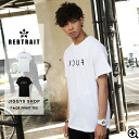 ◆REBTRAIT F**K Printed Tee◆men's street fashion/American casual/street style/men's tee/men's graphic t-shirt/half-sleeved/short-sleeved/skater/skate/skateboard/Men's samurai ELO/ smart/autumn fashion/summer fashion/simplicity