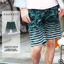 ◆It is a duck camouflage camouflage border in spring and summer in fashion older brother men fashion spring and summer for half underwear short pants men panties 7 of roshell( Rochelle) カモフラージュグラデボーダーショートパンツ ◆ older brother line in a knee of shorts surf
