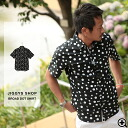 ◆It is black black dot waterdrop broadcloth for shirt men short-sleeved casual shirt half-length sleeves 5 of broad dot short sleeves shirt ◆ older brother line in spring and summer in sleeve older brother system shirt short sleeves shirt older brother s