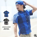 ◆ big block check short sleeve shirt ◆ brother series shirt men's short sleeve casual shirts half sleeve 5-sleeves brother series shirt short sleeve shirt brother of fashion brother men's fashion spring summer spring summer check check pattern block