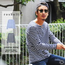 ◆It is fall and winter in Ron T T-shirt print print T-shirt long sleeves long sleeves T-shirt Ron tea older brother system fashion older brother men fashion Malin fall and winter of Ron T men older brother of roshell( Rochelle) horizontal stripe boat nec