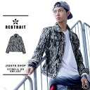 ◆Harajuku system Korean G Jean men fashion たけぞー brand American casual skateboard outer fall and winter camouflage camouflage of REBTRAIT( レブトレイト) whole pattern print denim jacket ◆ G Jean denim jacket skater men street origin in the fall and winter