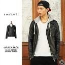 ◆ Roshell (Rochelle) shiny Jersey double riders jacket ◆ maitake, brother of fashion brother brother series Men's riders jacket jacket men's outerwear fall fall winter winter double % off men's fashion!-black