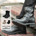 ◆ Roshell (Rochelle) Engineer Boots ◆ brother series Men's short boots Engineer Boots boots men's brother system boots shoes shoes leather black brother of fashion brother % off men's clothing