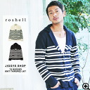 ◆roshell 7G stripe knit tailored jacket◆knit/tailored jacket/men's tailored jacket/knit jacket/cardigan/outerwear/casual/men's fashion/sweater/spring fashion/summer fashion