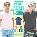 ◆roshell V Neck Used-like Tee◆pocket tee/tshirt/t-shirt/men's short-sleeved tee/short sleeve/plain tee/men's tops/men's fashion/spring fashion/summer fashion