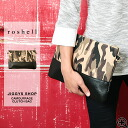◆ roshell (Rochelle) duck pattern &Black canvas clutch bag ◆ clutch bag mens clutch clutch back 2way large A4 travel bag bag bag bag women's leather men's fashion brand storage business wedding unisex Camo with spring spring summer