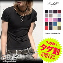 [BUY 2 GET 3rd FREE][Please select 3] ◆Roshell T-shirt U Neck Half Sleeve◆ JIGGYS SHOP