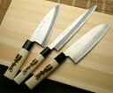 On the knife Deba knife struck three-point set [santoku you cut sashimi] jk_h