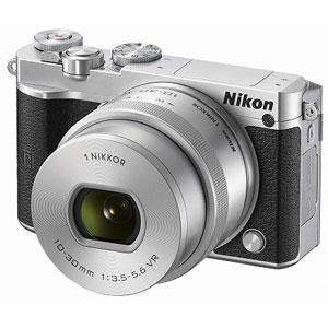 ニコン|Nikon 1 J5 標準 パワーズームレンズキット(シルバー)|N1J5-LK-SL