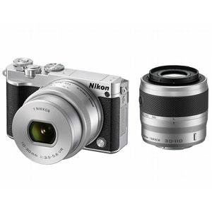 ニコン|Nikon 1 J5 ダブルズームレンズキット(シルバー)|N1J5-WZ-SL