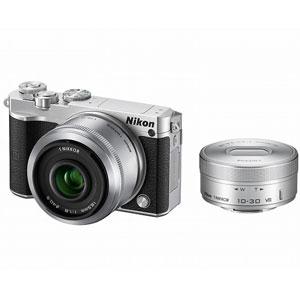 ニコン|Nikon 1 J5 ダブルレンズキット(シルバー)|N1J5-WLK-SL