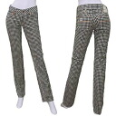 Betty Smith BAW2009-M tight straight gingham stretch