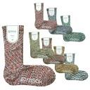 rasox ラソックスクルー length socks splashing cotton L shape socks CA060LC35