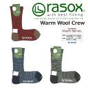 -rasox la Sox warm wool crew socks CA132CR05 (gender unisex / socks and calf-length and fall-winter)