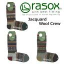 -rasox la Sox Jacquard wool crew socks CA132CR04 (men and women combined / socks / calf-length / autumn/winter)