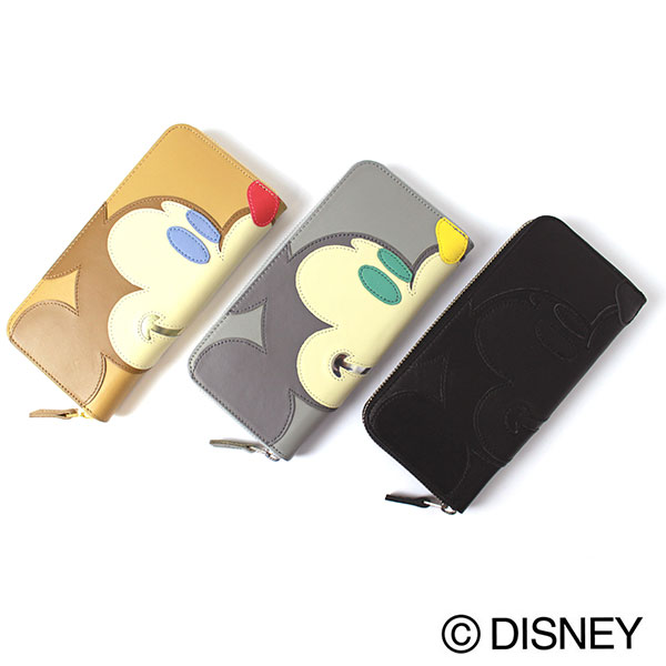 Disney/Accommodeミッキー パッチワーク レザーウォレット