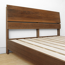 headboard and solid walnut