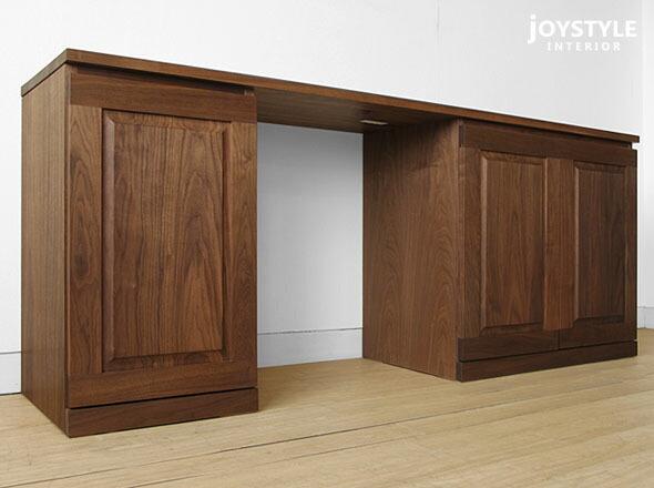把两面开清白180cm宽胡桃材胡桃材料天然木木制桌子书斋桌子机壳跟1枚