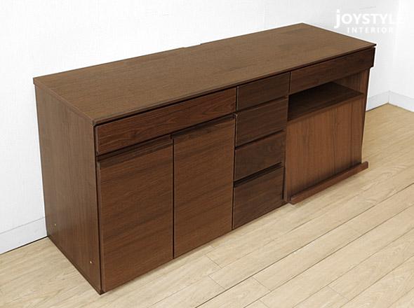 胡桃木核桃固体木制杂志架和柜抽屉宽度 150 厘米单位板存储板餐具柜