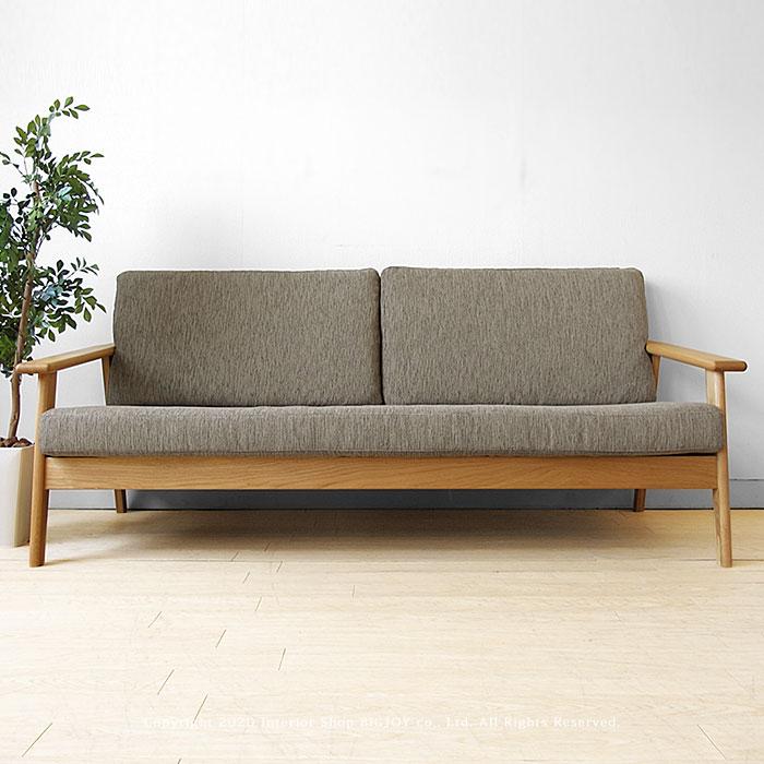 ナラ無垢材で作られた芸術的なデザインの木製ソファ
