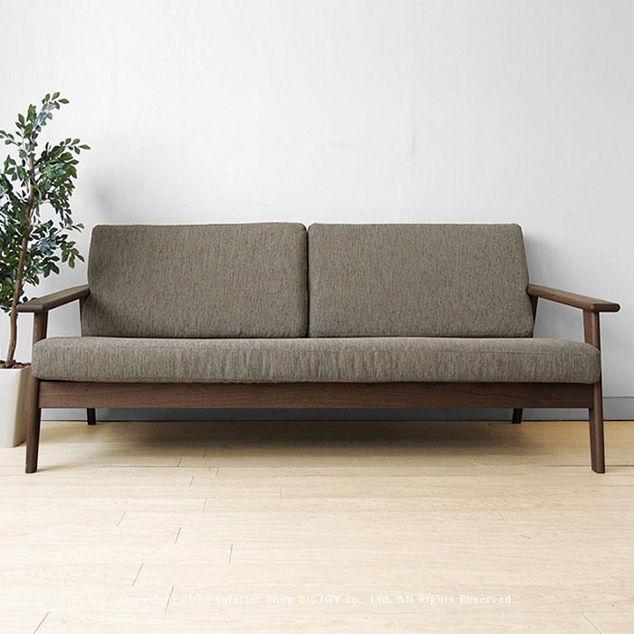 ウォールナット無垢材で作られた芸術的なデザインの木製ソファ