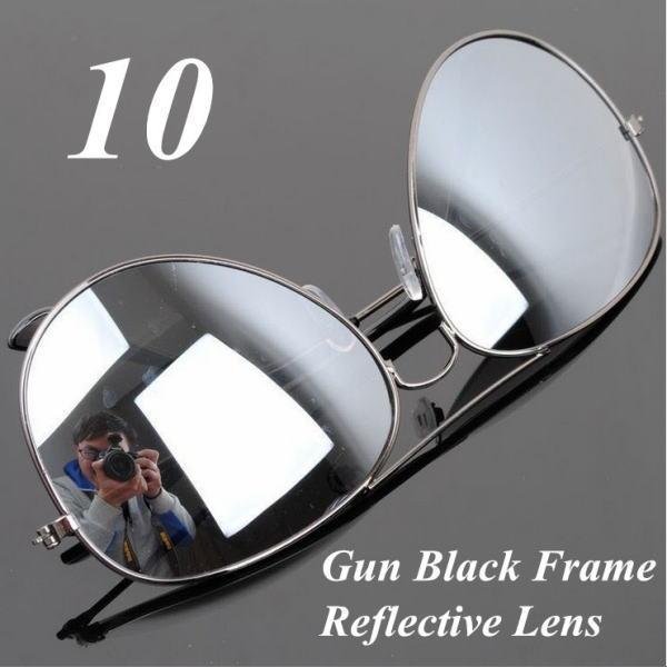 サングラス アビエイター デザイナーズ ファッションサングラス UV400 カラー:ガンブラックフレーム/ミラーレンズ アイウエアー メガネ 今だけ!送料無料 【在庫限品】即納です。