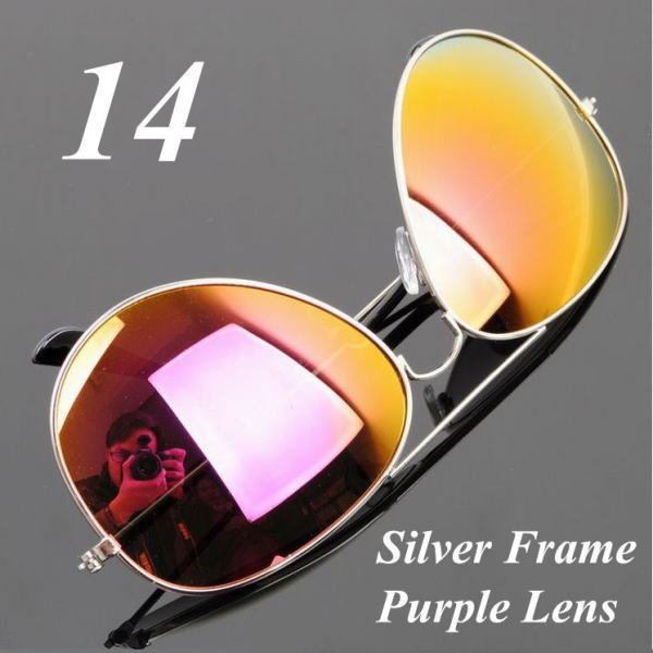 サングラス アビエイター デザイナーズ ファッションサングラス UV400 カラー:シルバーフレーム/パープルレンズ アイウエアー メガネ 今だけ!送料無料 【在庫限品】即納です。