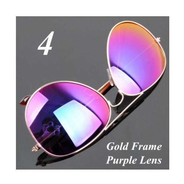 サングラス アビエイター デザイナーズ ファッションサングラス UV400 カラー:ゴールドフレーム/パープルレンズ アイウエアー メガネ 今だけ!送料無料 【在庫限品】即納です。