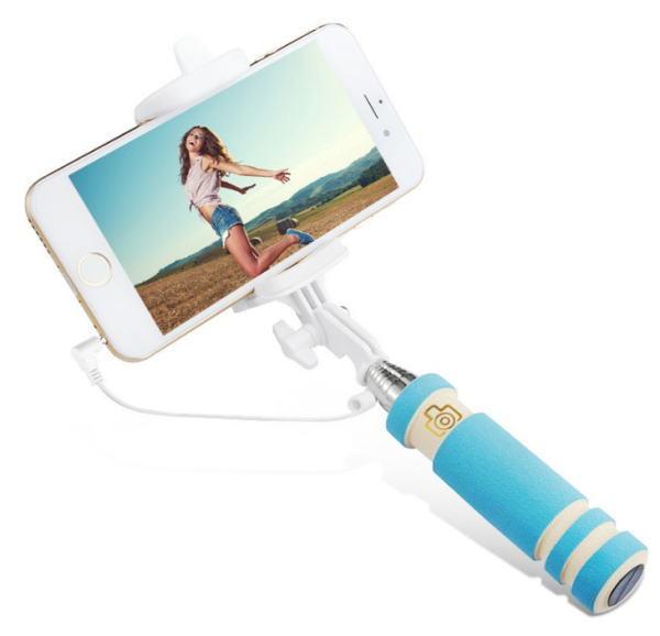 自撮り棒、自分撮り一脚ミニポール iPhone 6 6S / 5 5S用 伸縮自在 最長60cm シャッター付き 5色展開 メール便のみ送料無料