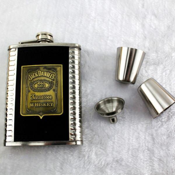ジャックダニエル ポータブル ヒップフラスコ ステンレススチール 8オンス Jack Daniel's ヒップフラスコセット【個別送料有】通常納期2週間~