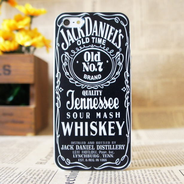 iphone5/5S カバー ジャックダニエル(黒)。2014新作 iphone5用スマホカバーケース iphone ケース ジャックダニエルはメール便のみ送料無料(代引送料/代引手数料は別)
