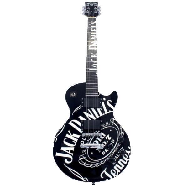 ジャックダニエル ギター ギタージャックダニエル オールド7ロゴ (黒) 【送料無料】【並行輸入品】通常納期2週間~