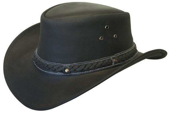 レザー アウトバック パッカブル ウエスタンカウボーイハット【豪華本革製】Made in USA Leather Hat【送料無料】【本場米国直輸入品】通常納期2~3週間