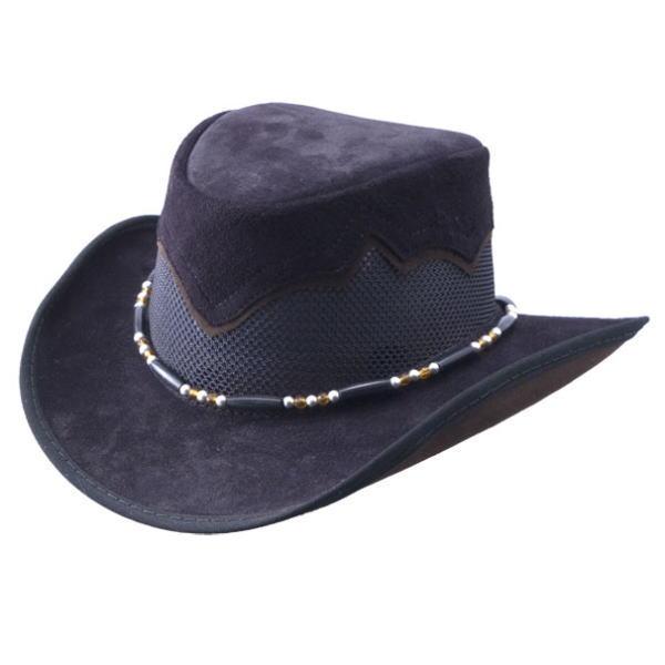 シエラブラックスエードデザイン ウエスタンカウボーイハット/Made in USA Leather Hat【送料無料】【本場米国直輸入品】通常納期2~3週間