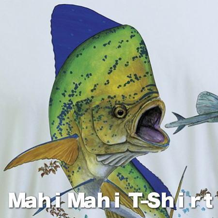シイラTシャツ マヒマヒTシャツ 長袖Tシャツ Mahi MahiデザインTシャツ メンズTシャツ。